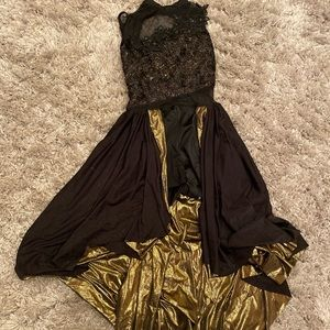 Other - Black and gold layered dress dance costume